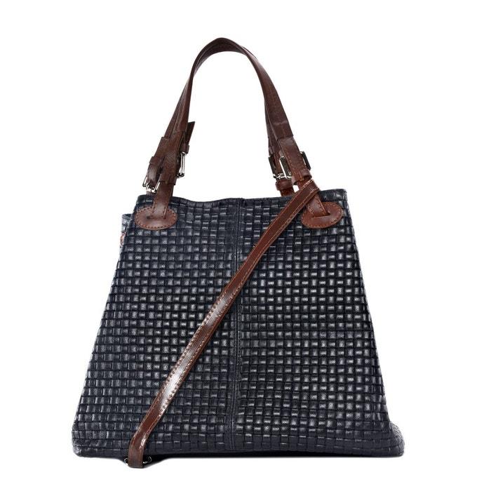 a5d024b99e Sac à main en cuir tressé mallarmé Oh My Bag | La Redoute