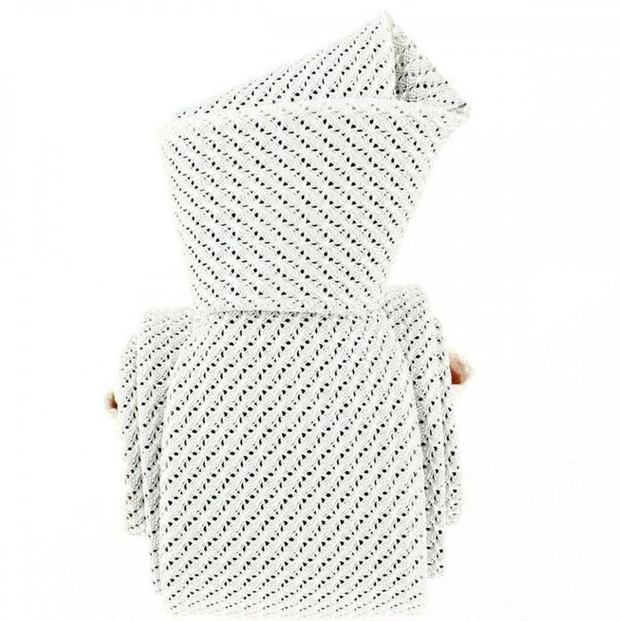 Cravate grenadine de soie, gris perle, tony & paul blanc Tony Et Paul | La Redoute