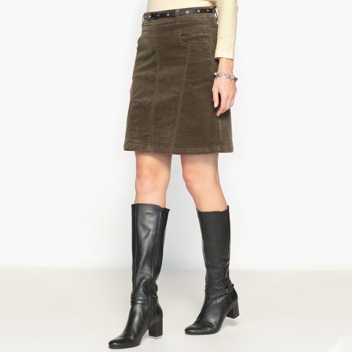 Image Stretch Needlecord Skirt ANNE WEYBURN