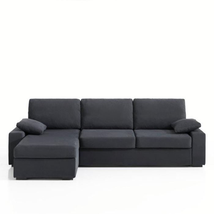 Image Canapé d'angle lit, couchage express, coton demi natté, Java La Redoute Interieurs