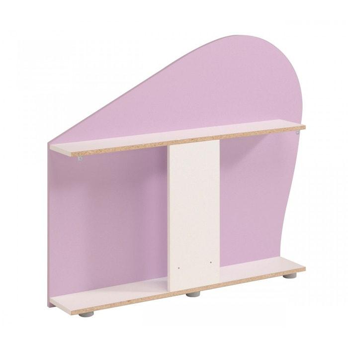 environnement de lit blanc meg ve et lila ev1016 rose terre de nuit la redoute. Black Bedroom Furniture Sets. Home Design Ideas