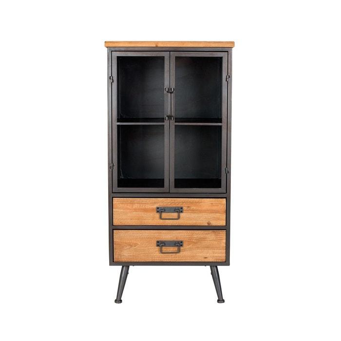 petit meuble industriel damian boite design gris boite a design la redoute. Black Bedroom Furniture Sets. Home Design Ideas