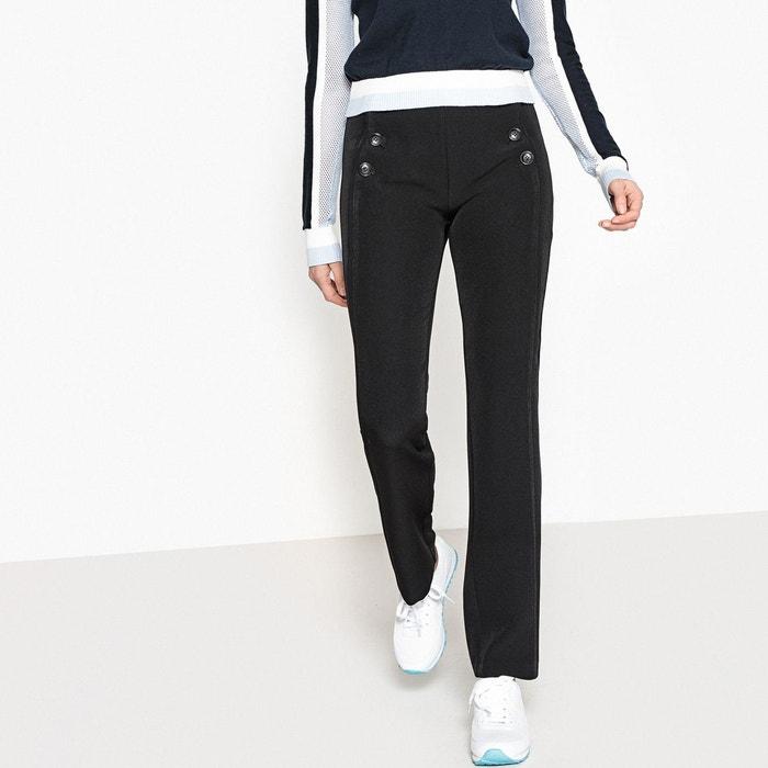 Pantalon à pont La Redoute Collections  340a2cde8e4