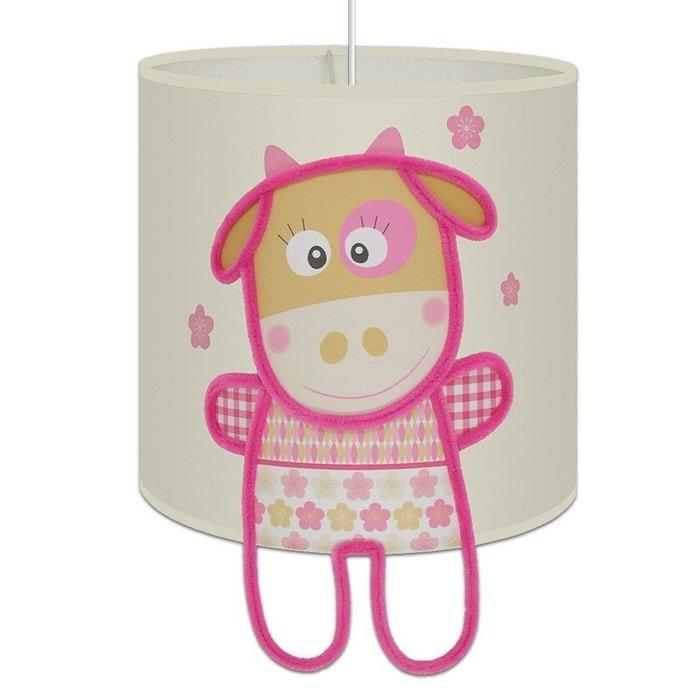 suspension lumineuse 39 marguerite la petite vache 39 pour chambre de fille rose art et loupiote. Black Bedroom Furniture Sets. Home Design Ideas