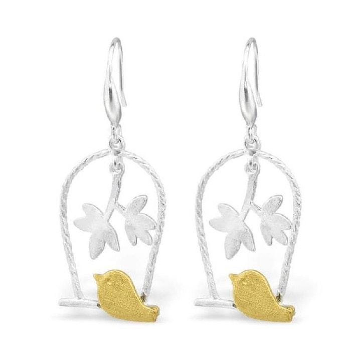 Boucles d'oreilles harmonie oiseaucage argent 925 couleur unique So Chic Bijoux | La Redoute Prendre Plaisir Boutique Offre De Prix Pas Cher 6FhVR