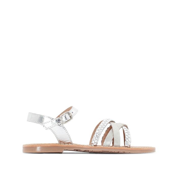 Sandali con cinturini metalliscenti 26-39  La Redoute Collections image 0