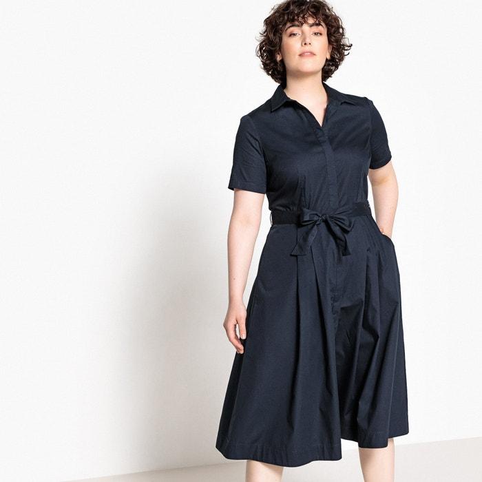 c7f5f3c4a44 Poplin flared midi shirt dress Castaluna Plus Size