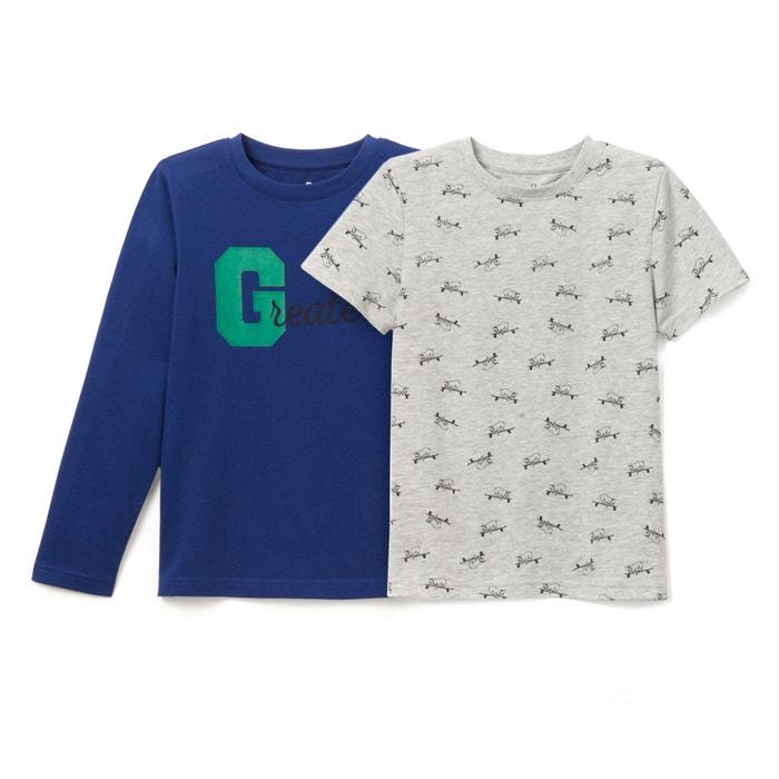 afbeelding T-shirt 3-12 jr (set van 2) La Redoute Collections