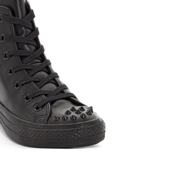 Baskets montantes ctas hi studs cuir noir Converse