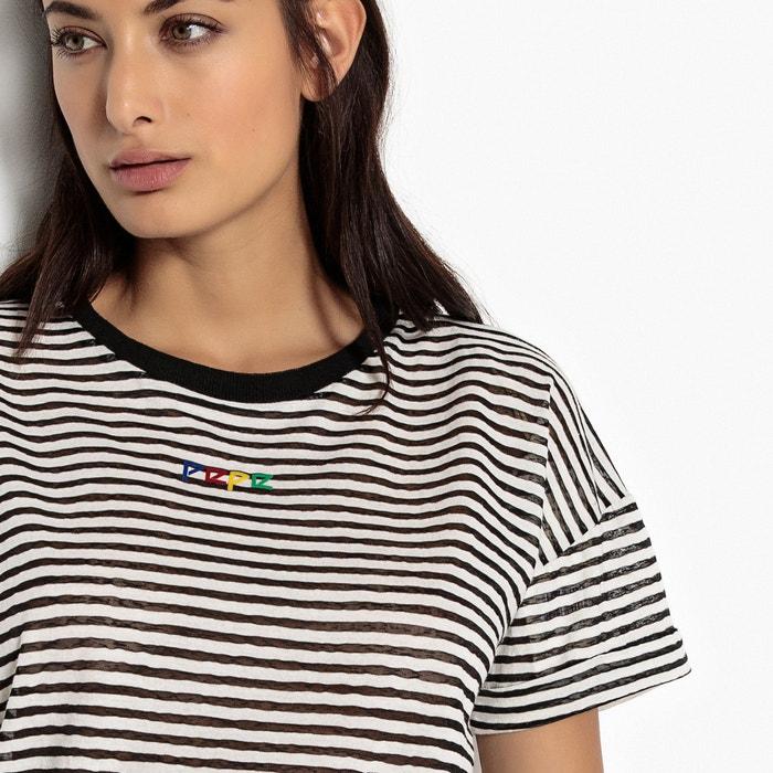 Stripe Print Crew Neck T-Shirt  PEPE JEANS image 0