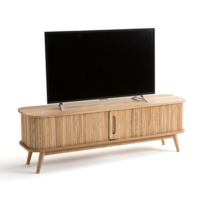 Meuble Tv 2 Portes Coulissantes Wapong Naturel La Redoute Interieurs La Redoute