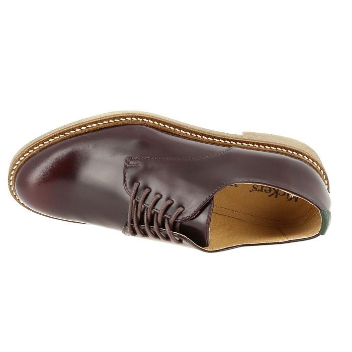 Chaussures à lacets kickers oxford 512050 bordeaux Kickers