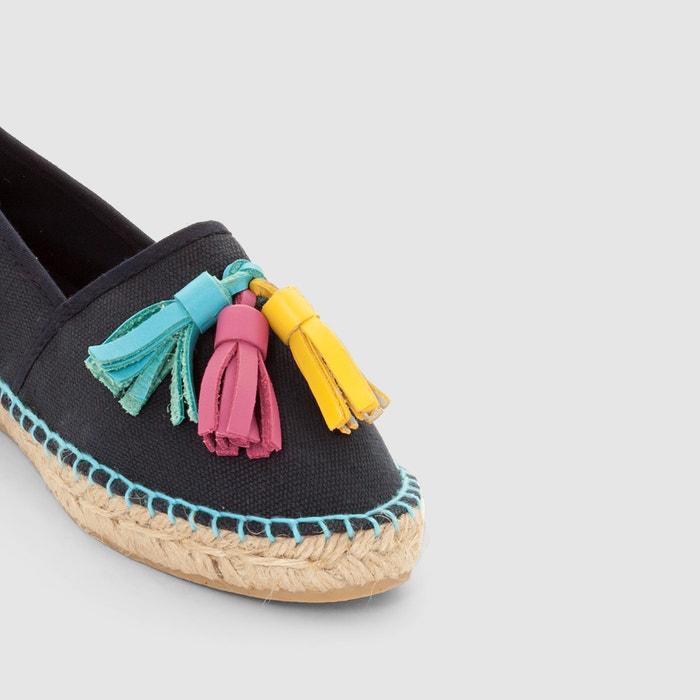 de04ccbd4a69 Canvas sandals with pom pom details