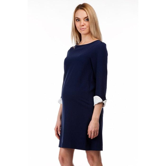 Robe Grossesse Nuit Corso Avec Bleu Retroussées Manches De Vercelli gtwwx85qp