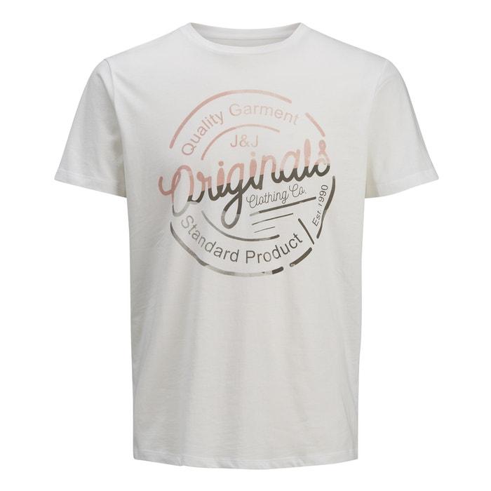 T-shirt met ronde hals en korte mouwen, print vooraan  JACK & JONES image 0