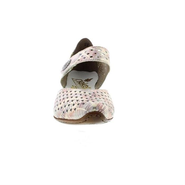 RIEKER cuir pieds sandales sandales RIEKER nu nu Yz8Ywqr