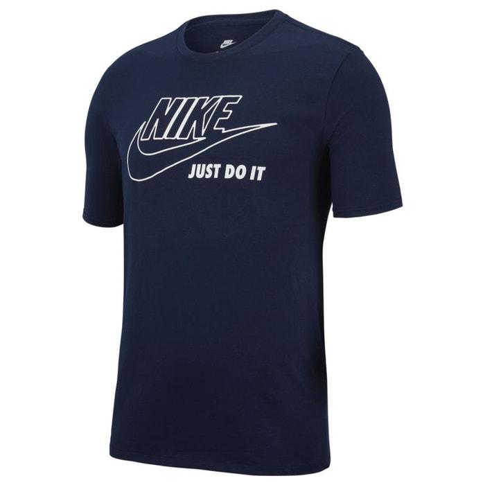 cuello y redondo corta de estampado NIKE manga delante Camiseta con 6RTnxPEZ
