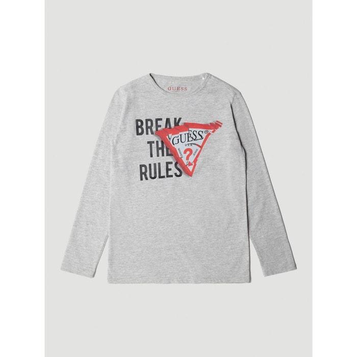 T-shirt imprime frontal gris Guess Kids   La Redoute c1dbee0dd621