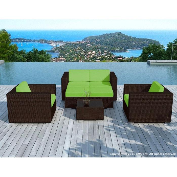 Sd9505 - (sd9505 choco/white + housse ) - salon de jardin en résine ...