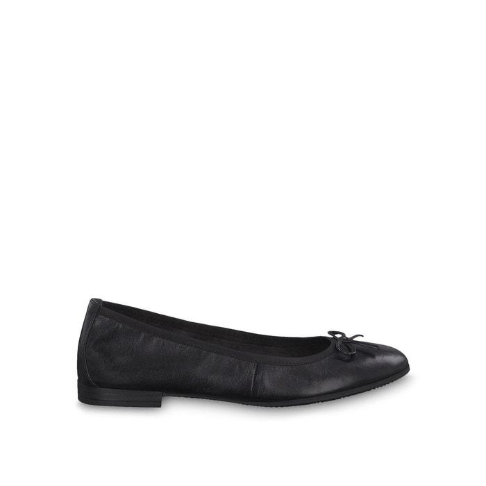 Ballerine Tamaris cuir noir