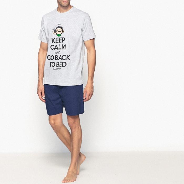 afbeelding Pyjashort met korte mouwen met print van GASTON LAGAFFE GASTON LAGAFFE