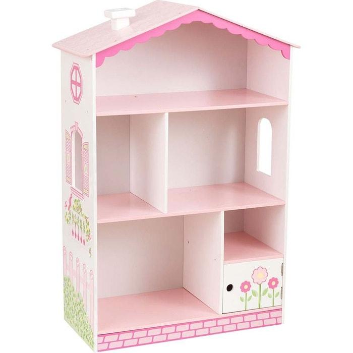 biblioth que petite maison de poup e rose kidkraft la redoute. Black Bedroom Furniture Sets. Home Design Ideas