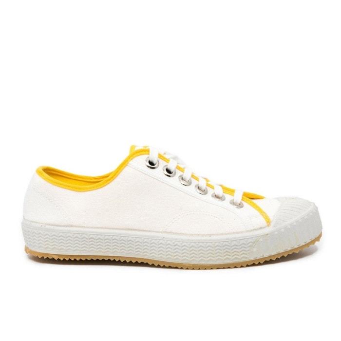 56527d9115a4 Baskets basses toile blanche lenin chrome blanc Komrads