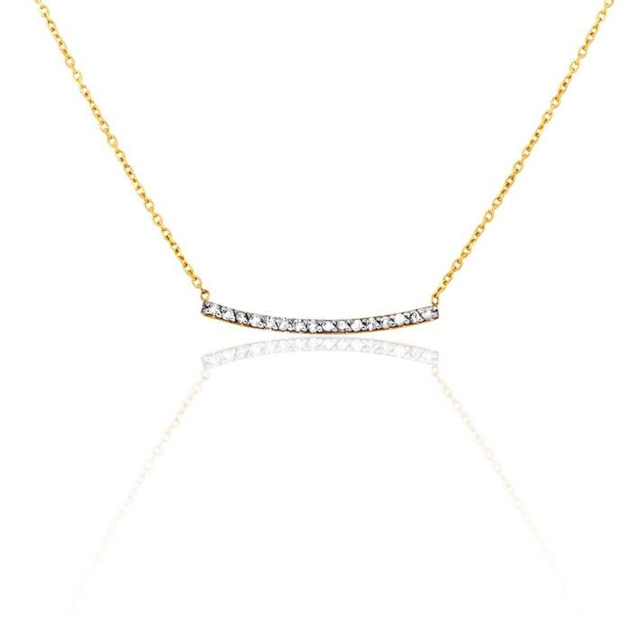 100% Authentique Collier or 375/1000 diamant blanc Cleor | La Redoute Pas Cher Ebay Acheter Pas Cher Pas Cher Marque Vente Pas Cher Nouveau Unisexe Vente Frais Discount GfM5Ph