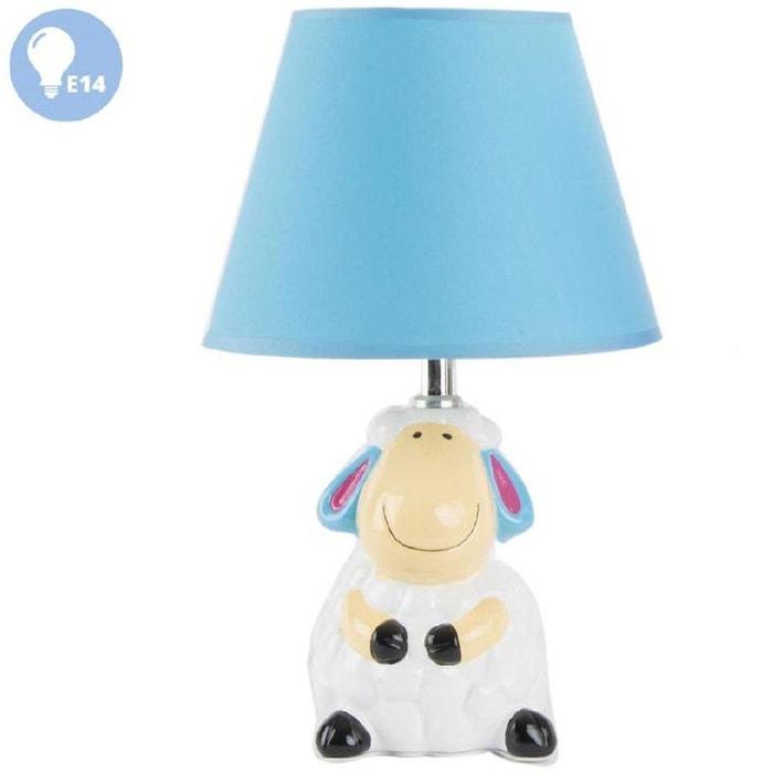 petite lampe de chevet mouton mod le bleu couleur unique. Black Bedroom Furniture Sets. Home Design Ideas