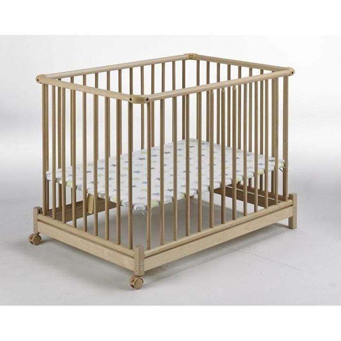 parc pliable bois naturel euro parc et tapis etoile 73 x. Black Bedroom Furniture Sets. Home Design Ideas