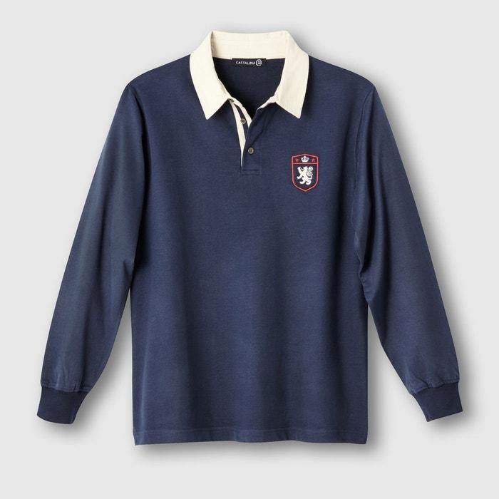 polo rugby manches longues jersey pur coton castaluna for men la redoute. Black Bedroom Furniture Sets. Home Design Ideas