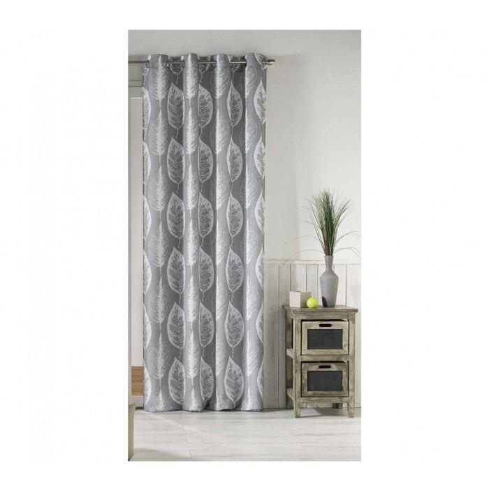 rideau feuilles gris 140x260 gris douceur d 39 int rieur la redoute. Black Bedroom Furniture Sets. Home Design Ideas