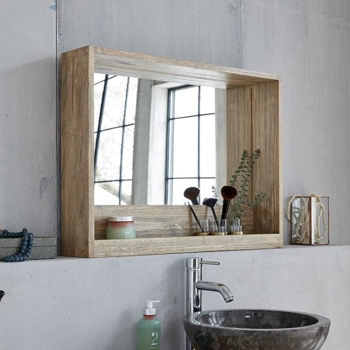 miroir avec rangement en bois d 39 h v a 80 h v a bois dessus bois dessous la redoute. Black Bedroom Furniture Sets. Home Design Ideas