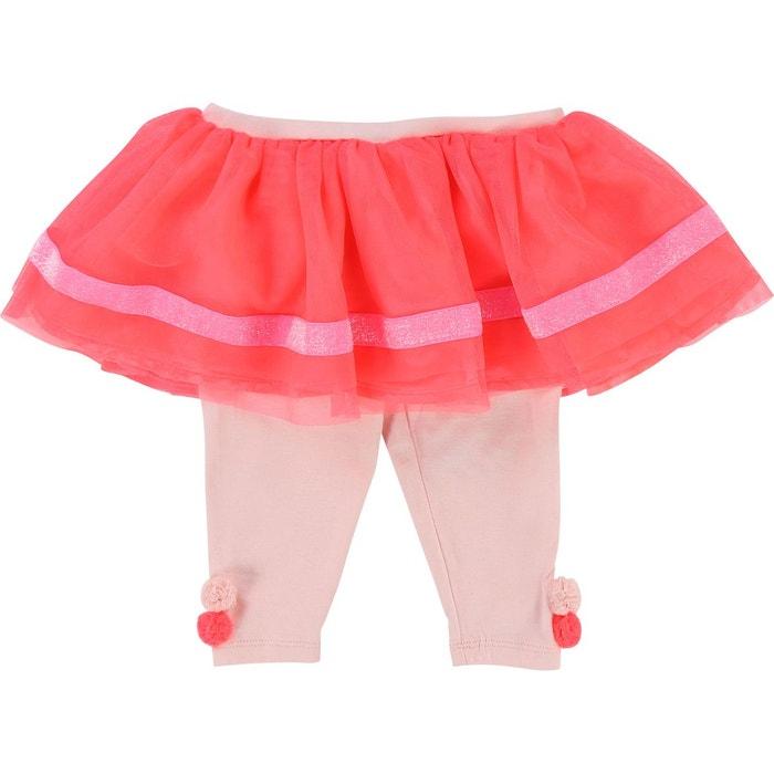 Juppon et legging rose fluo Billieblush   La Redoute 61840b8faf05