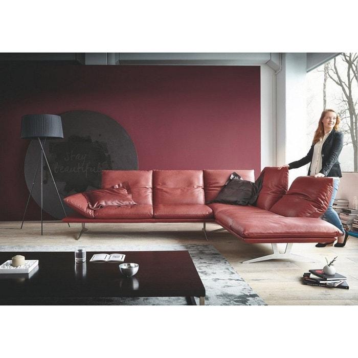 Canapé d'angle minimaliste ultra design en cuir ad senso ...
