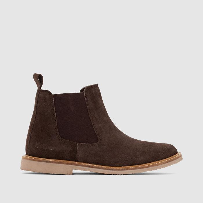 Boots en cuir tyga  marron Kickers  La Redoute