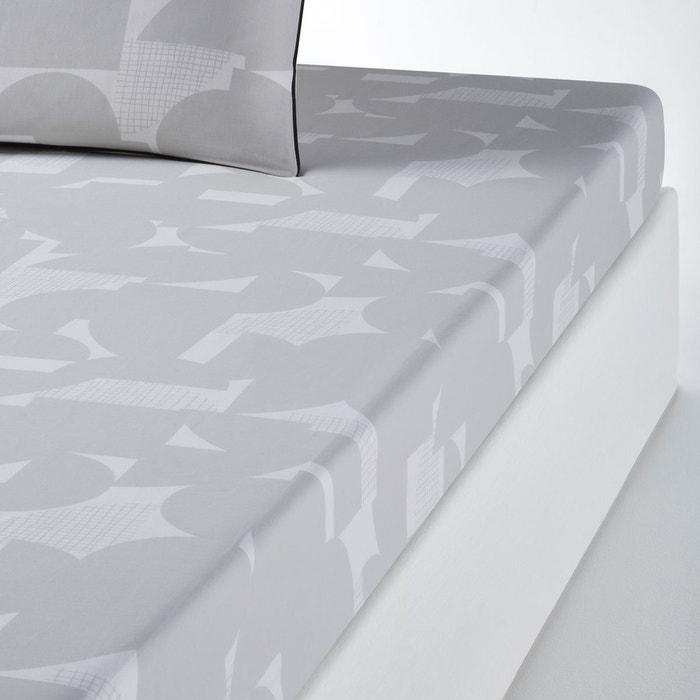 drap housse imprim aaron la redoute interieurs la redoute. Black Bedroom Furniture Sets. Home Design Ideas
