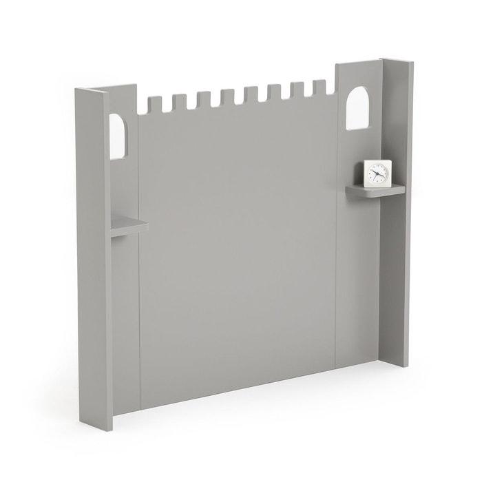 t te de lit ch teau fort avec tablettes artic gris la. Black Bedroom Furniture Sets. Home Design Ideas