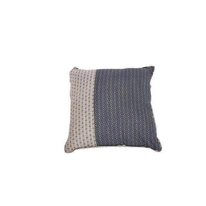 coussin carr 50x50 iroko bleu gris baobab la redoute. Black Bedroom Furniture Sets. Home Design Ideas