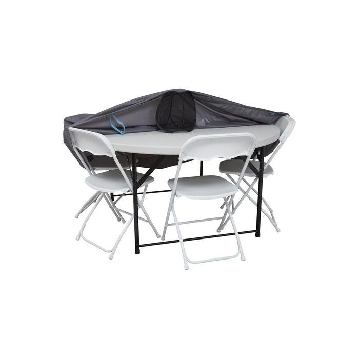 Housse de protection table ronde 160 cm gris Oviala   La Redoute