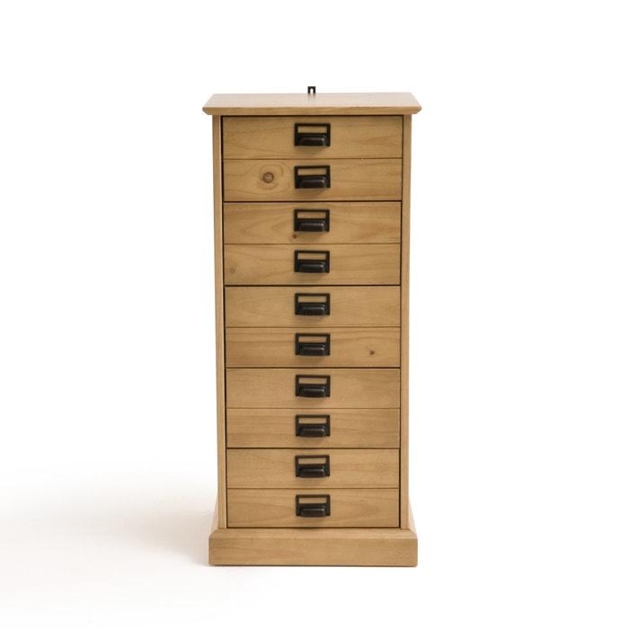 chiffonnier pin massif 5 tiroirs lindley ch ne clair la. Black Bedroom Furniture Sets. Home Design Ideas