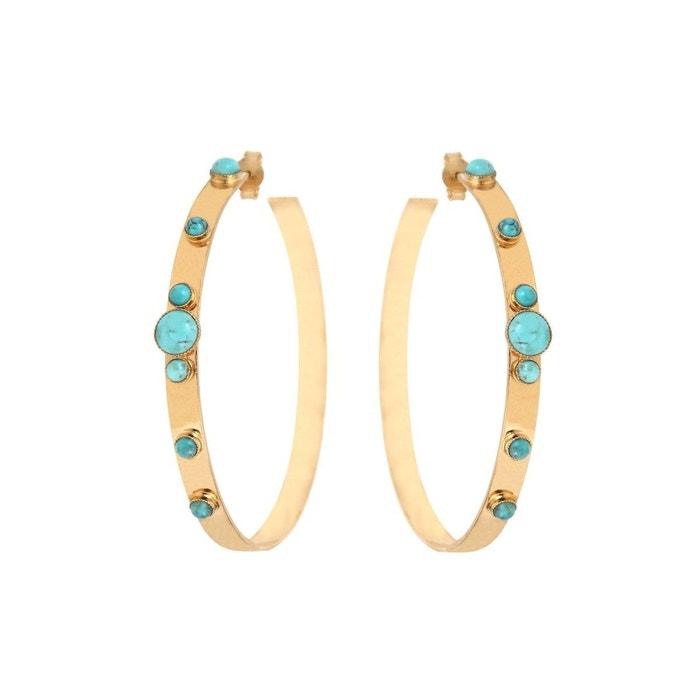 Créoles dorées turquoise maya gm bleu Caroline Najman | La Redoute Magasin Vente En Ligne commercialisable 3hnJ0