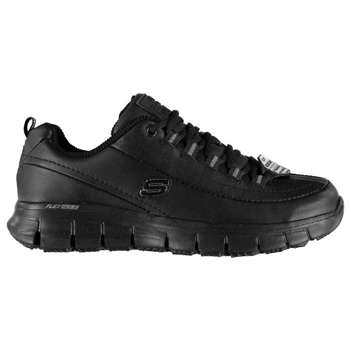 Magasin De Sortie Pour Choix Pas Cher Chaussures sportives en cuir noir Skechers sortie VG6Ww8