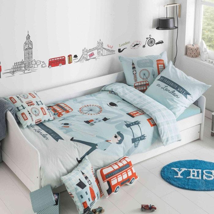 parure de lit enfant london bleu future home la redoute. Black Bedroom Furniture Sets. Home Design Ideas