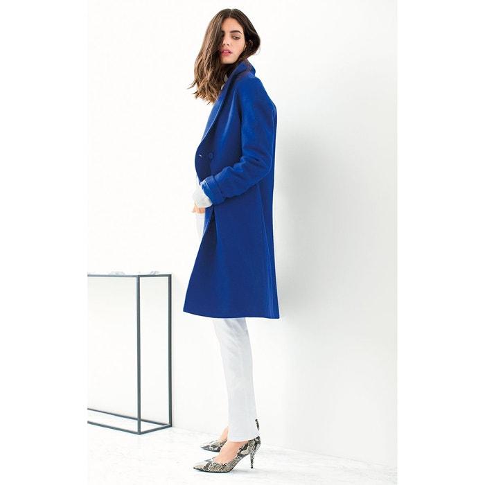 manteau 80 laine forme ovo de bleu la redoute collections la redoute. Black Bedroom Furniture Sets. Home Design Ideas