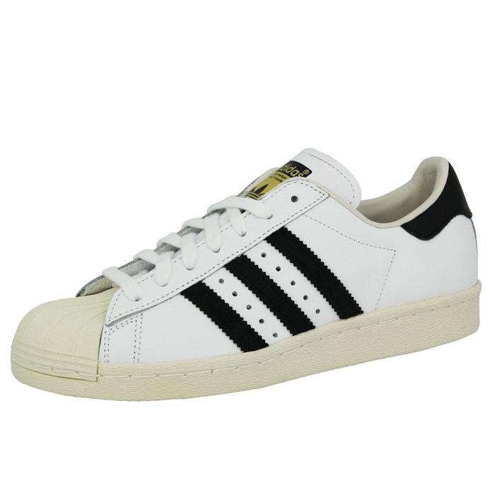 Adidas originals superstar 80s chaussures mode sneakers blanc blanc Adidas Originals