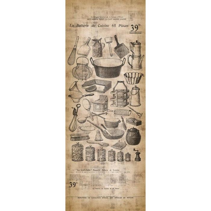 papier peint l unique ustensile de cuisine vintage beige lgd01 la redoute. Black Bedroom Furniture Sets. Home Design Ideas
