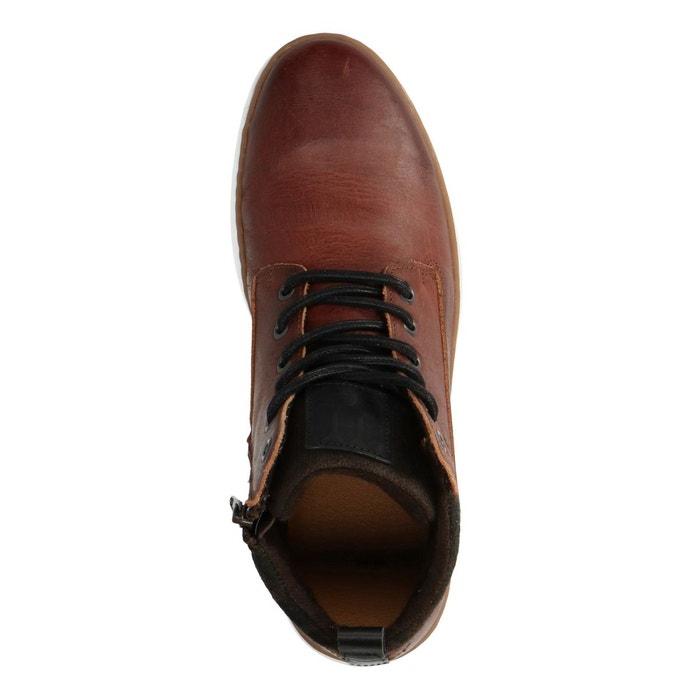Boots à lacets en cuir marron Sacha