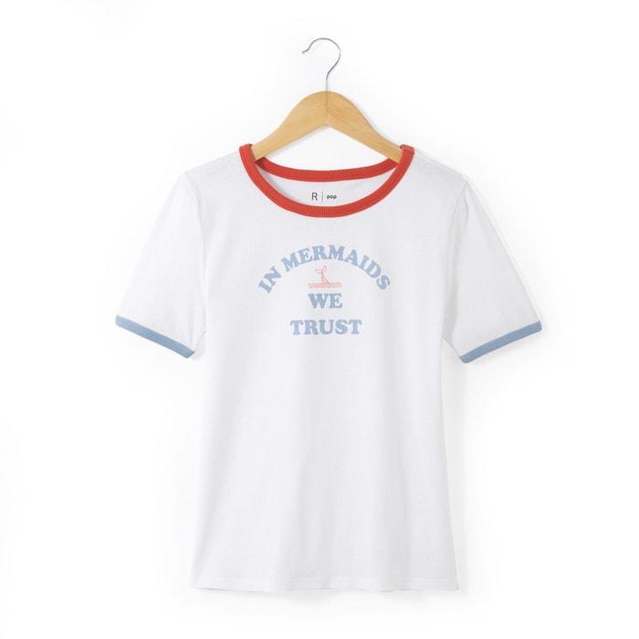 Image T-shirt scollo rotondo fantasia 10-16 anni La Redoute Collections