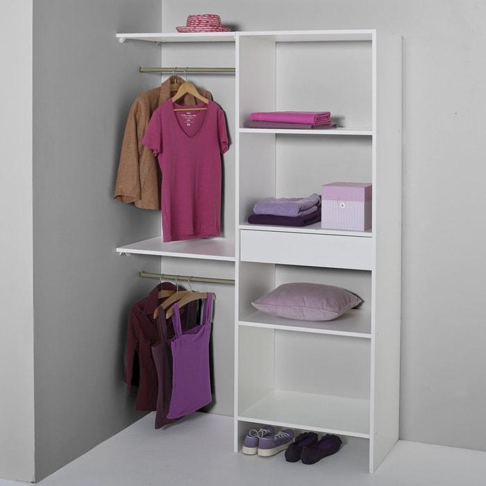 vestiaire dressing modulable yann la redoute interieurs blanc la redoute. Black Bedroom Furniture Sets. Home Design Ideas